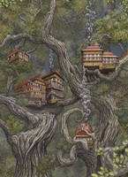 Tree houses by AshiRox