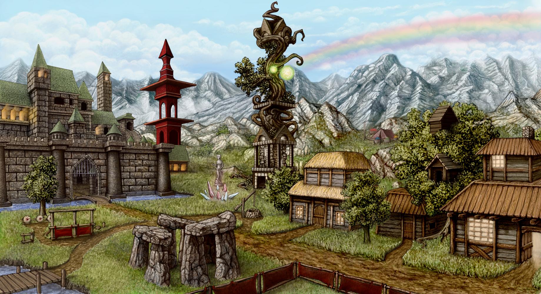 Enrothian Fan Art Sorceress_town_by_ashirox-d5krk71