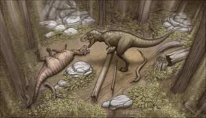 Dinner for Tyrannosaurus