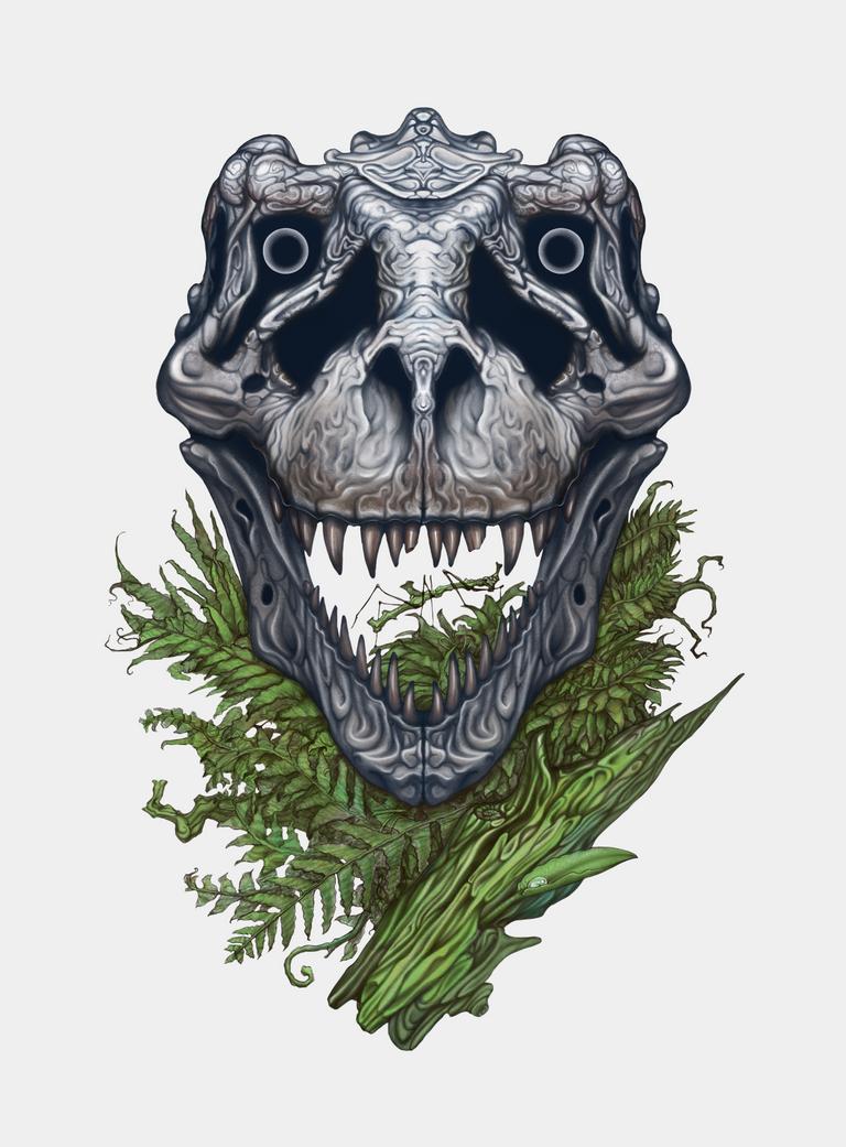 T-rex skull by AshiRox