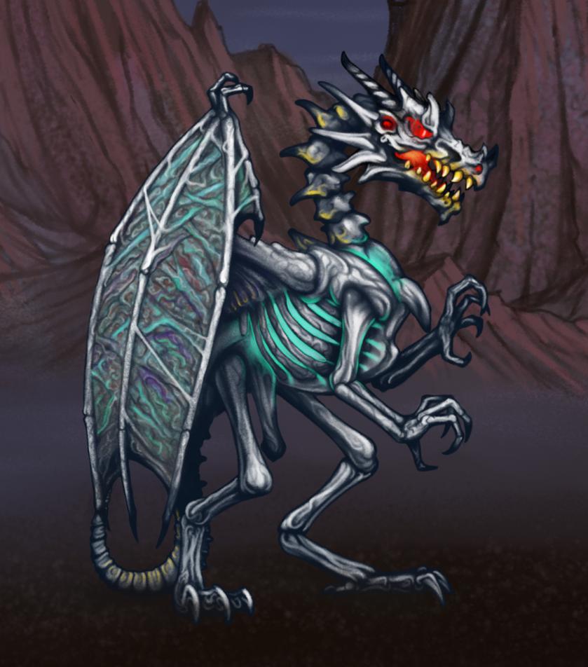 HoMMII Skeleton dragon by AshiRox