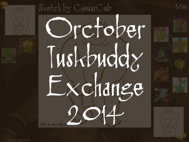 Orctober Tuskbuddy Exchange 2014 by CaptainGerBear
