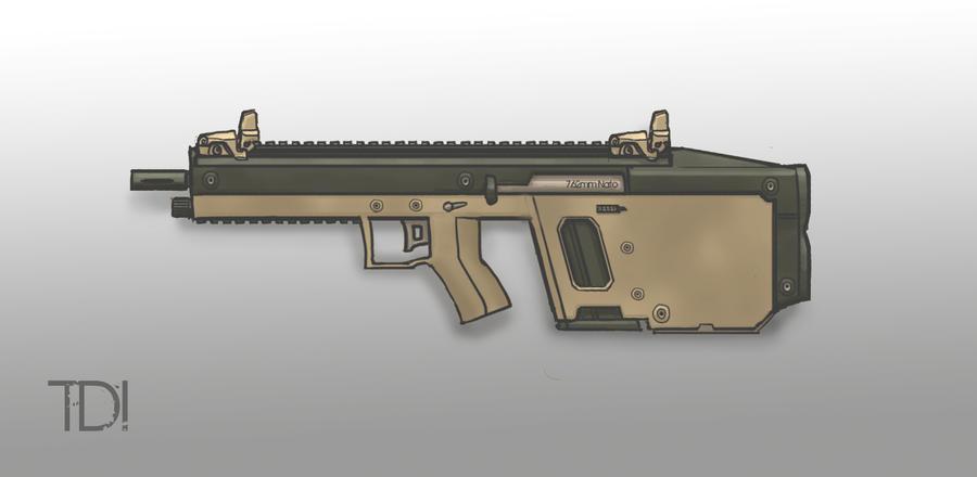 Kriss Style Assault Rifle by ModalMechanica
