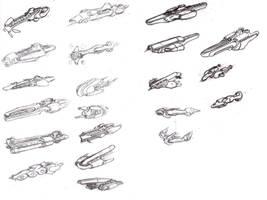 Space Ship Sketches by ModalMechanica