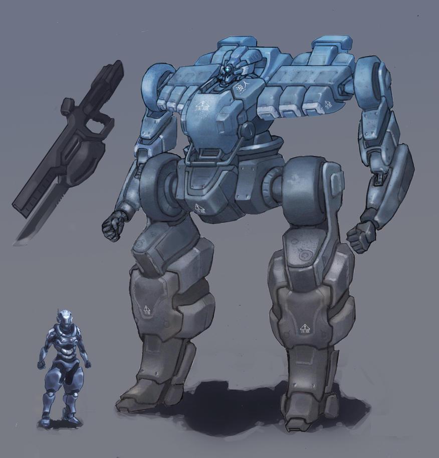 Mecha - Ullr-02 by ModalMechanica