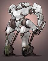 Mecha - White Knight by ModalMechanica