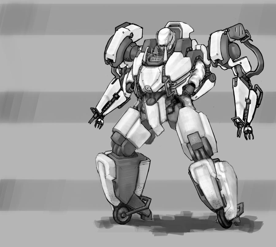 Mecha - Enforcer by ModalMechanica
