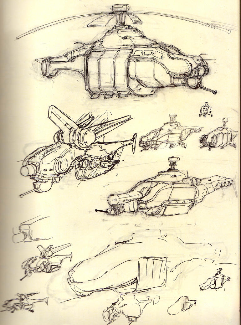 Helicopter Sketches by ModalMechanica