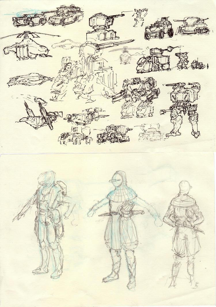 Moar concept sketches by ModalMechanica