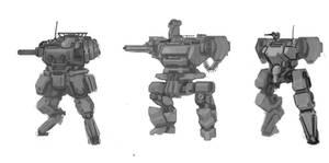Mecha Design Variations 1 by ModalMechanica