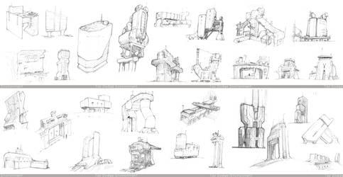 Architecture Sketches by ModalMechanica