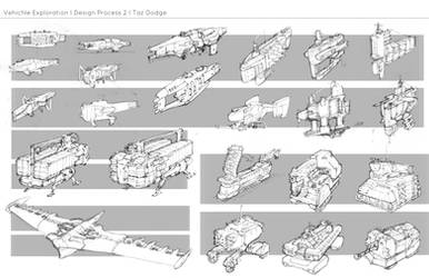 8 DP2 Vehicle Sketches by ModalMechanica