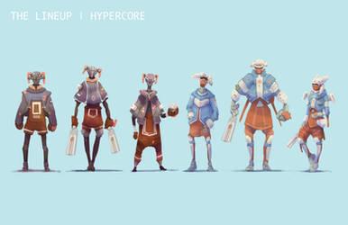 Character Lineup by ModalMechanica