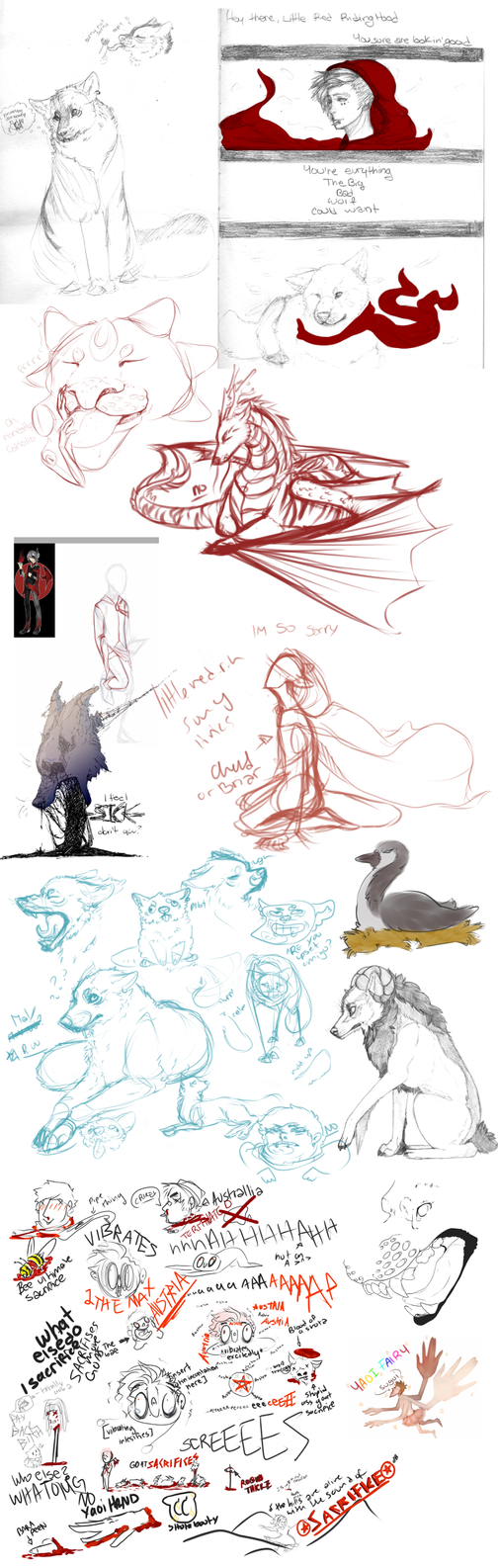 Sketch Dump 3 by PissBabyRat
