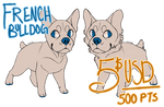 [P2U] Frenchie Lineart! by babbyrat