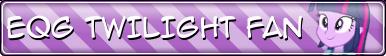EQG Twilight Sparkle Fan Button by Sonork91