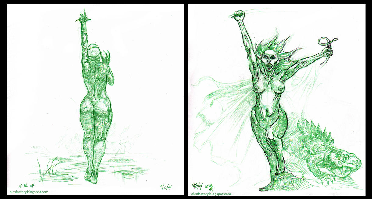 Frazetta Studies by AlexFactory