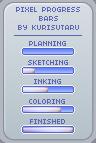 Pixel Commission Status/Progress Bars by kurisutaru