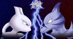 Mewtwo VS Nemesis by kurisutaru