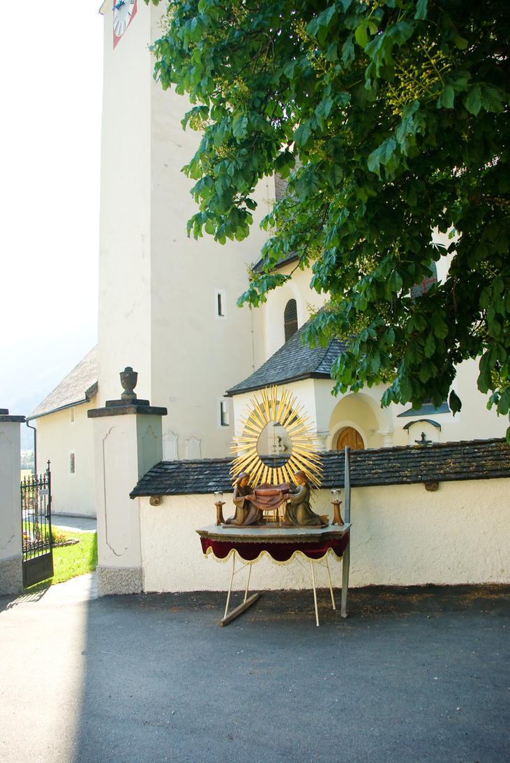 Altar-table outside the church by steppeland