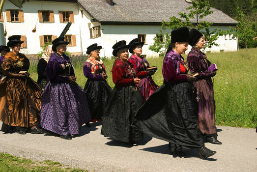 Ladies in beautiful traditional dresses