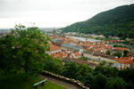 View from Heidelberg Castle over the city