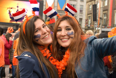 Young women all ready for Royal Celebrations by steppeland