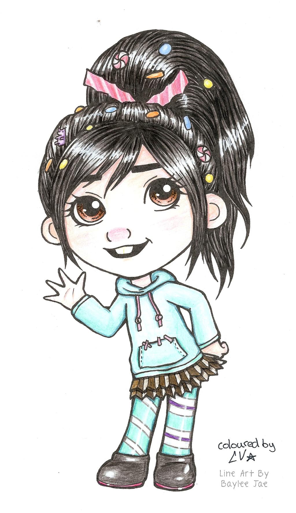 Line Art By Baylee Jae : Baylee jae s vanellope von schweetz by blackstarlily on