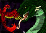 Fight of Fawkes and the Basilisk