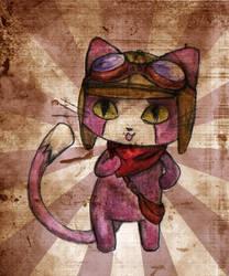gato piloto by GabiCoco