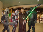 A Jedi with mandolorian Backup by pauly136