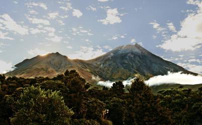 Mt Taranaki from Dawson Falls