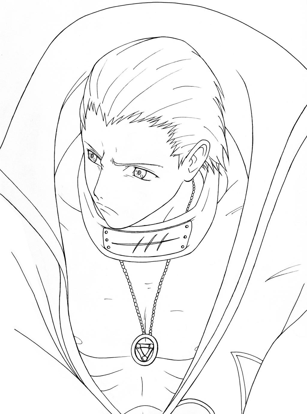 Naruto Coloring Pages Pdf : Akatsuki s hidan from naruto by kaendd on deviantart