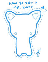 How to Sew a Mr. Sniff by 0xo