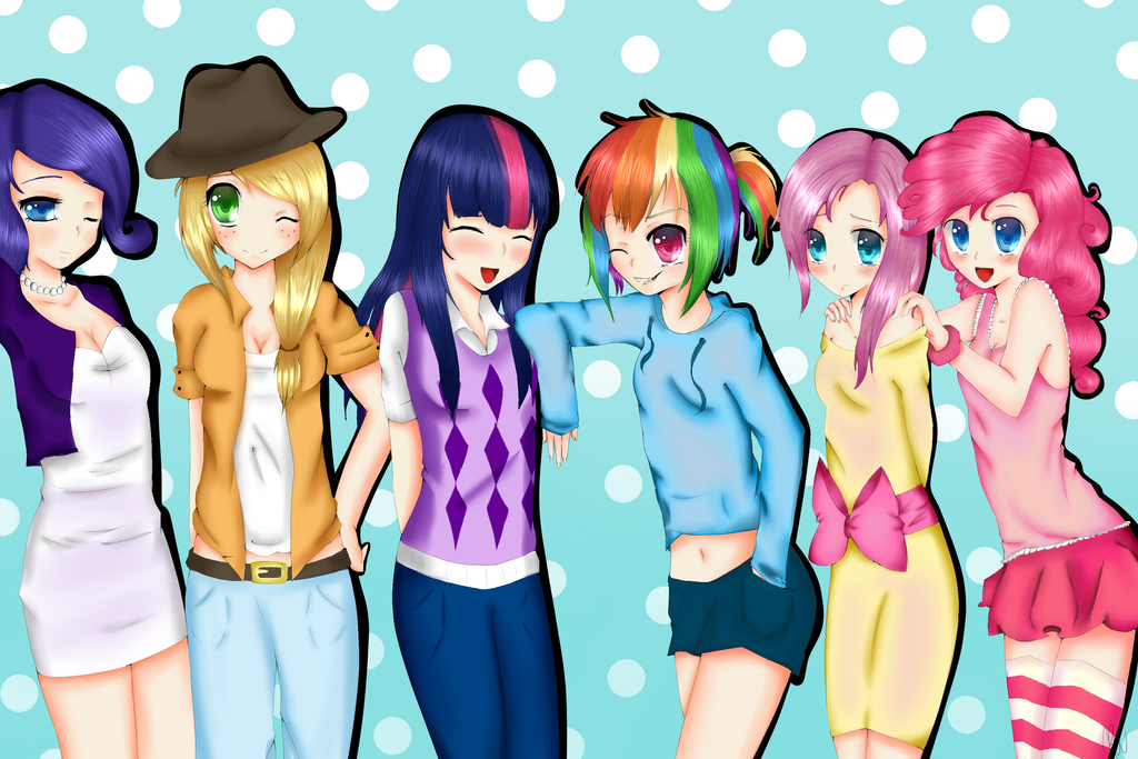 My Little Pony Human Group by xKittyblue on DeviantArt