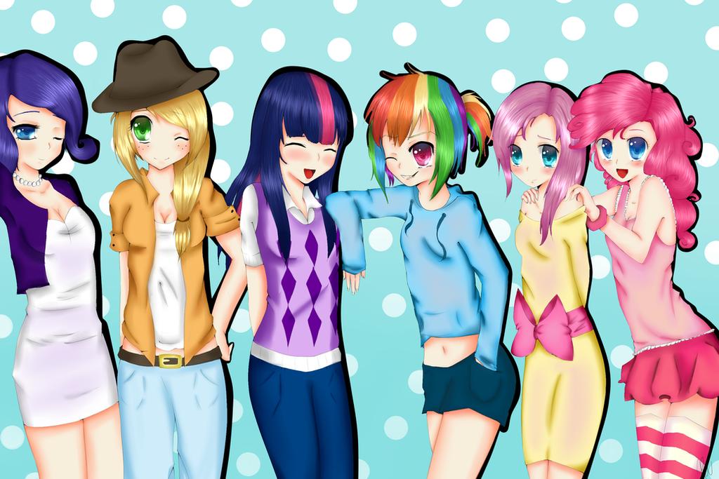 My little pony human group by xkittyblue on deviantart - My little pony en humain ...