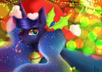 MLP Luna Christmas Selfie!