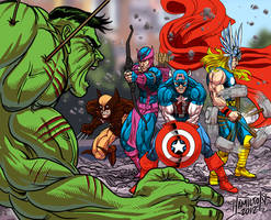 avengers assemble by hamdiggy