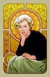 Marilyn Monroe in Mucha
