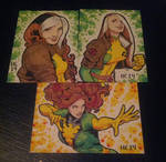 Sketchcards Rogue and Phoenix