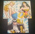 Sketchcards Supergirl Wonder Woman Zatanna
