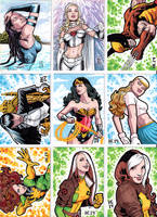 Sketchcards Marvel Dc by hamdiggy