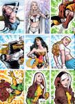 Sketchcards Marvel Dc