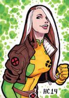 Sketchcards Marvel Rogue by hamdiggy
