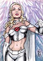 Sketchcards Marvel White Queen by hamdiggy