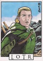 Sketchcards - LOTR - Legolas by hamdiggy