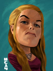 Cersei Lannister by hamdiggy