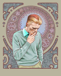 David Bowie in Mucha