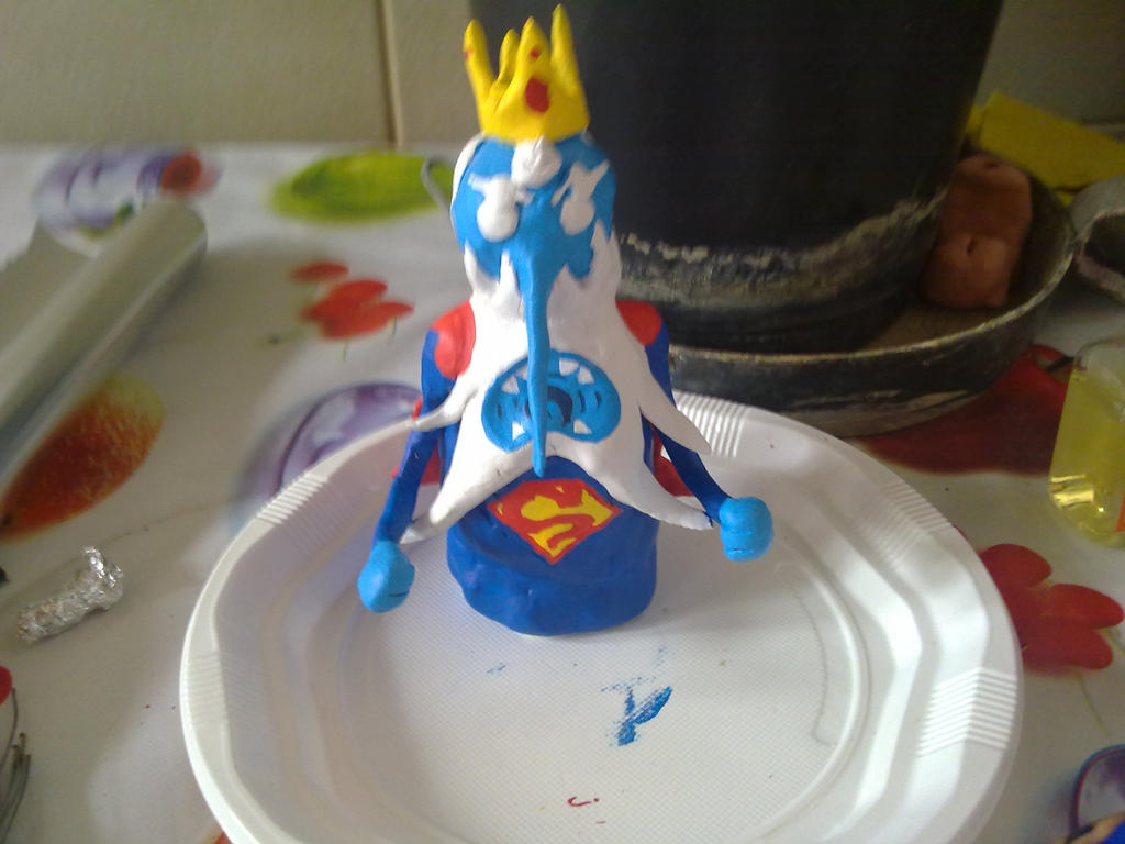 Ice king made on clay with a cosplay of superman by ivansasu87 on