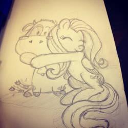 MLP: Fluttershy + Cow